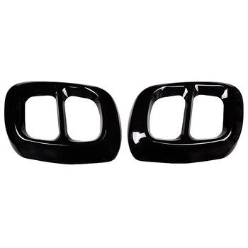 2 шт. глянцевая черная нержавеющая сталь для Mercedes Benz Gla Class X156 выхлопная Крышка для автомобиля Накладка для Infiniti Q30 Qx30