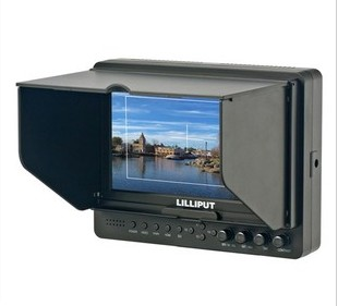 Lilliput 665/O HDMI Input Out Aspect Ratio Image Flip HDMI YPbPr LCD Camera Monitor For HD Video Camera