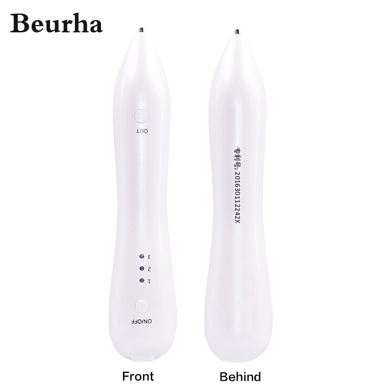 Beurha Laser Freckle Removal Machine Painless Spot Mole Tattoo Wart Speckle Remover Pen Beauty Portable Care Equipment Skin Care