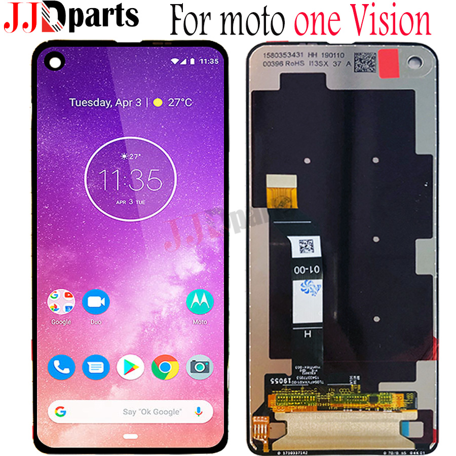 Original For Motorola Moto One Vision LCD one vision Display Touch Screen Sensor Panel Digiziter Assembly