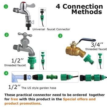 30 M Automatische Micro Drip Irrigatiesysteem Tuin Irrigatie Spuiten Automatische Watering Kit Met Verstelbare Messing Druppelaar