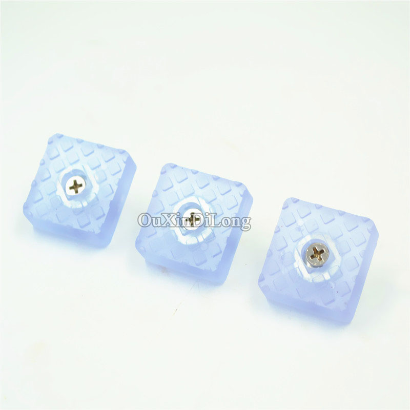 NEW 500PCS 30*30mm Chair Table Feet Pads Cabinet Drawer Buffer Silicone Anti Slip Mute Pad With Screws Floor Protector