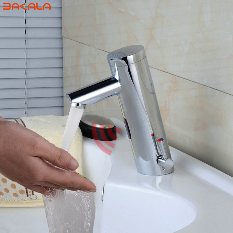 BAKALA NOVOS Hot & Cold Mixer torneira Automática do sensor de Toque Mão Livre torneira toque Sensor & Sink Tap banheiro F-2029