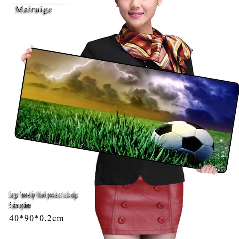 Mairuige Football 900x400mm Pad To Mouse Notbook Computer Mousepad Best Seller Gaming Padmouse Gamer Laptop Keyboard Mats