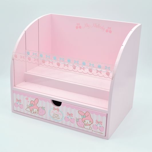 Cute Cartoon My Melody Pink Wooden Box My Melody Rabbit Comestic Box Kit Dressing Storage Box For Girls Dolls House Gifts