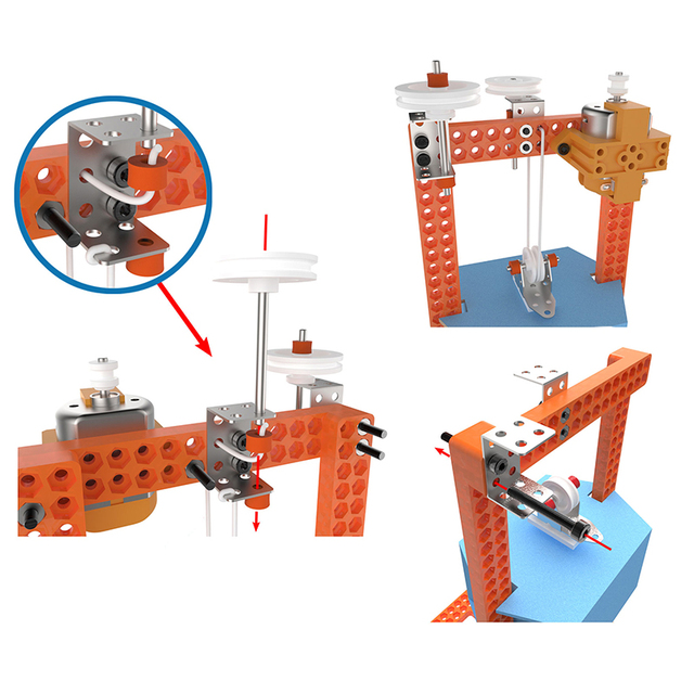 DIY STEM Toys for Children Physical Scientific Experiment Creativity Learning Educational Toy DIY Elevator Gift