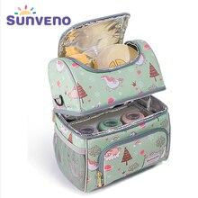 Sunveno сумка термоссумка холодильник бутылку мешок держать свежие изоляции сумка пропустить зоопарк панда Термосумка для бутылочек для держатель для бутылки термос для еды