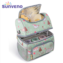 SUNVENO New Fashion Bottle Bag Keep Fresh Insulation Bag Skip Zoo Unicorn Pattern Thermal Bag for Bottles Baby Bottle Holder