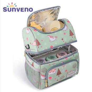 Sunveno сумка термос сумка холодильник бутылку мешок держать свежие изоляции сумка пропустить зоопарк панда Термосумка для бутылочек для держ...