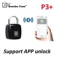 Smart Keyless BT Fingerprint Lock Fingerprint Recognition Phone Unlock APP Management USB Rechargeable Anti Theft Lock for Bags
