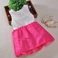 Baby Girls Fashion Dress Summer Simple Fresh Cotton Sleeveless Dress For Cute Girls O-neck Casual Dress For Girls Party Clothes