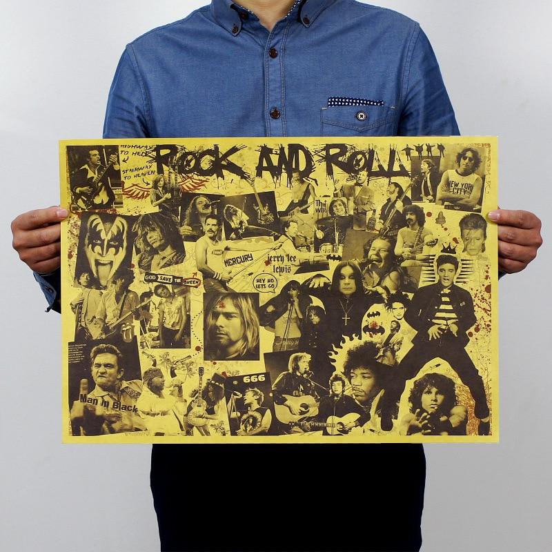 Classic Rock Band Big Build up Nostalgia Vintage Kraft Paper Movie ...