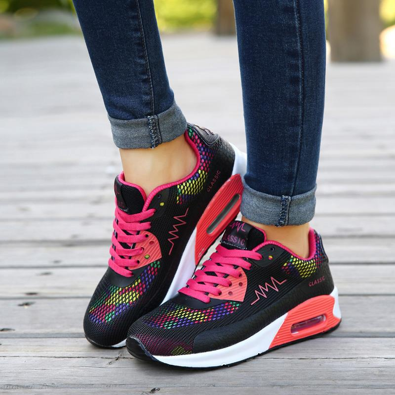 17a71c13417568 2016 hot sale Fashion Flats Women Trainers Breathable Sport Woman Shoes  Casual Outdoor Walking Women Flats Zapatillas Mujer 663-in Men s Casual  Shoes from ...