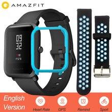 Купить с кэшбэком English Version Xiaomi Amazfit Bip Smart Watch Men Huami Mi Pace Smartwatch For IOS Android Heart Rate Monitor 45 Days Battery