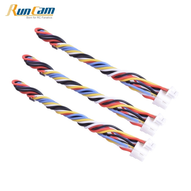 3PCS 5 Pin Silicone Cable Wire for TBS UNIFY PRO HV / Race RunCam Swift 2 / Owl 2 FPV Action Camera Spare Parts Accessories