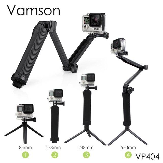 Vamson pour Gopro Accessoires Trépied 3 Voies Manfrotto Mount Extension  Bras Trépied pour Gopro Hero 6