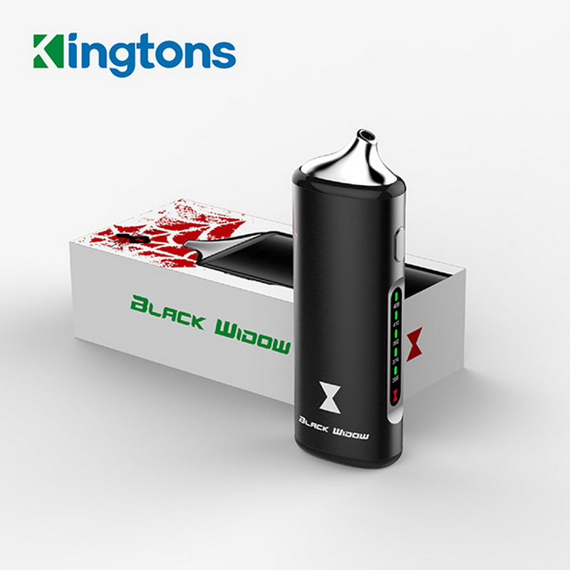 Kingtons noir Mamba kit vaporisateur d'herbes sèches embout en verre intégré 1600 mah batterie BLK Vape stylo vaporisateur à base de plantes