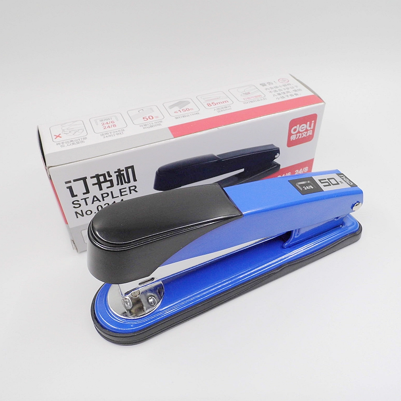 Deli Brand High Quality 3 Colors 24/6 24/8 Metal Standard Stapler With Staples School Office Binding Supplies 20D0314 comix durable 50 page 12 stapler w staples blue 3 pcs