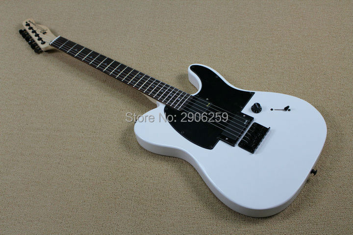 Hot Sale tele guitar flat white AS jim root signature TL guitar locking knobs rosewood fingerboard high quality Factory direct(China)