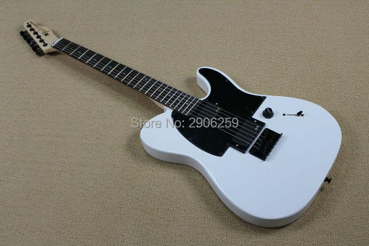 Heißer Verkauf tele gitarre flache weiße ALS jim wurzel unterschrift TL gitarre locking knöpfe palisander griffbrett hohe qualität direkt ab werk