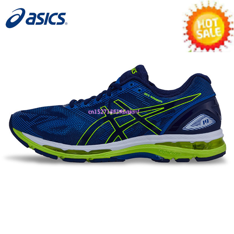 ASICS Men's Shoes Original Authentic GEL-NIMBUS 19 Cushion Light Running Shoes Breathable Sneakers Sports Outdoor