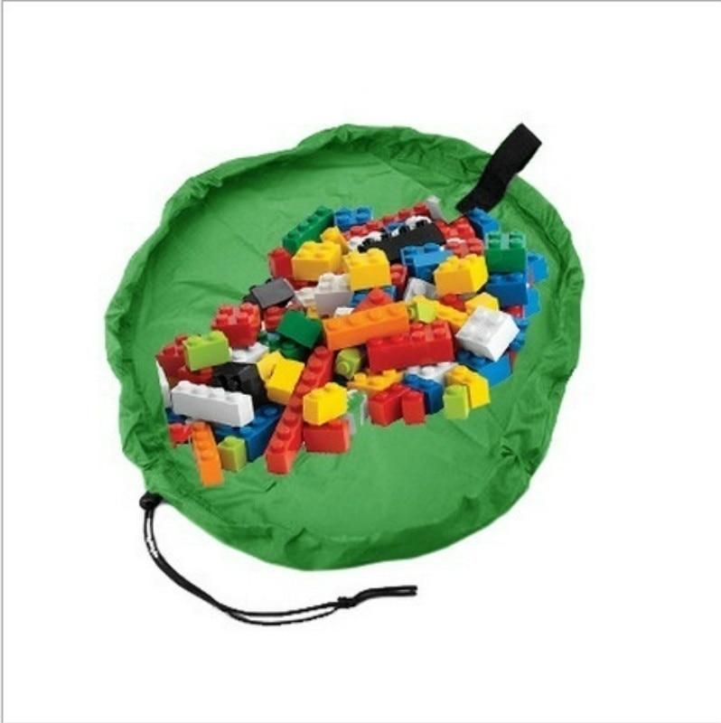 Brinquedo Das Crianças dos miúdos Do Bebê Jogar Mat Tapete tapete tapete de Banho Cobertor Cesta Grande Capacidade de Saco De Armazenamento Organizador Caixa Boxs 150 centímetros
