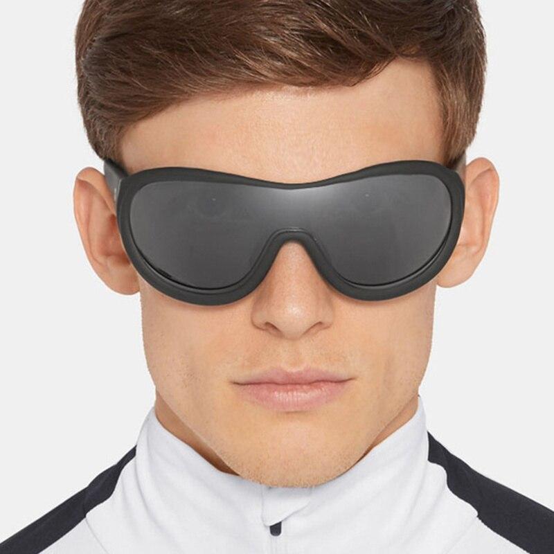 Fashion Cool One Piece Sunglasses Men women Driver Goggles Brand Designer Oval Sun Glasses for women men Female
