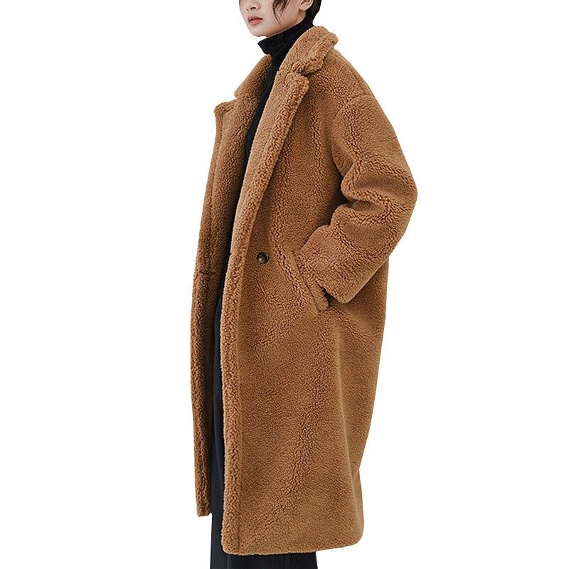 D'hiver Femelle Laine Faux 1atqp Outwear Manteau Peluche En Veste Solide mnO08vNw