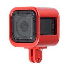 5 цветов Алюминий защитный Корпуса Рамки чехол для GoPro Hero 4 сеанса видеокамера Аксессуары случае