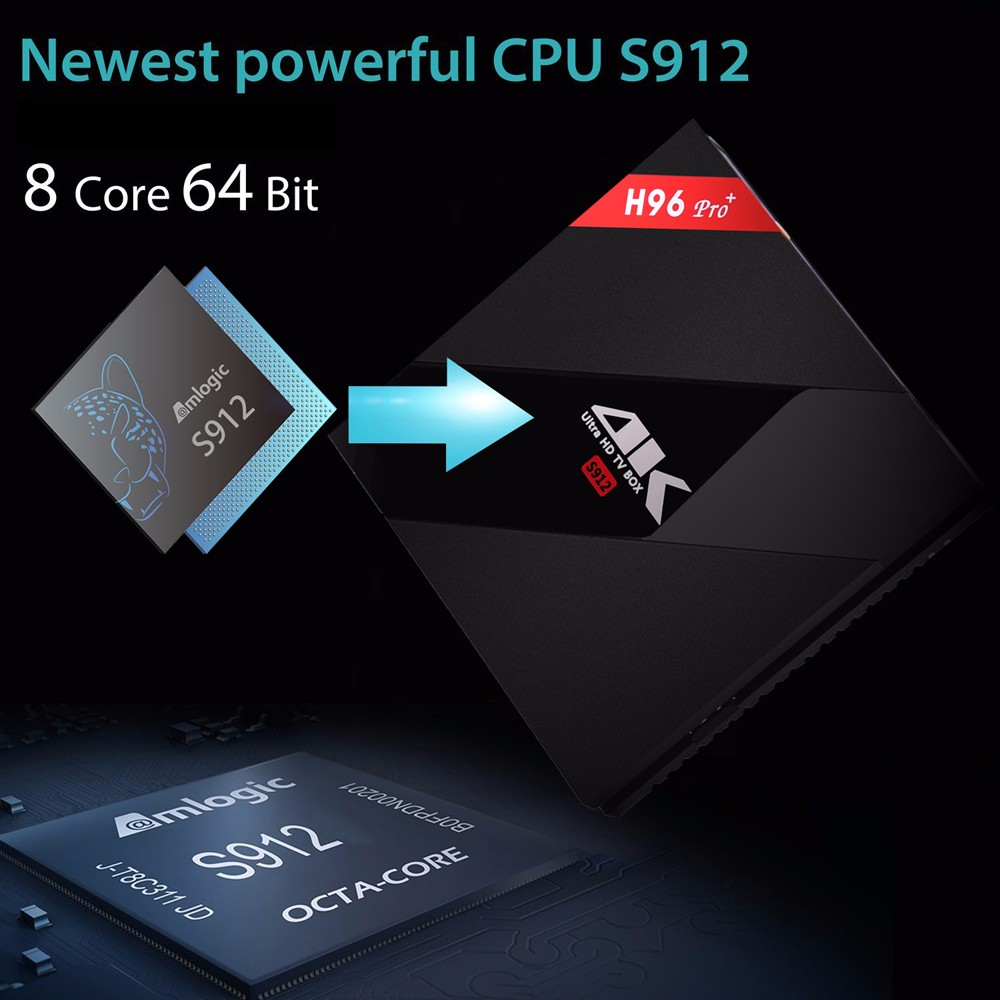 H96PRO+ android6.0 s912 cpu 2gb 16gb double wifi