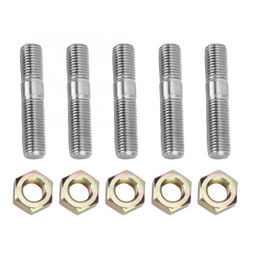 Lock Nut For Mitsubishi EVO RHF5HB VF22 VF34 VF30 9 Pcs M10x1.25 Turbo Studs