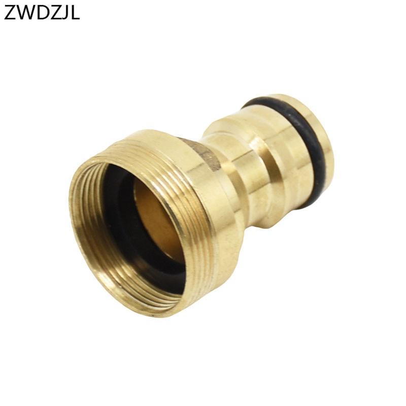 Garden Faucet Adapter M24 Threaded Brass Connector M22 Water Gun Tap Adapter Tooth Pitch 1 Mm 1pcs