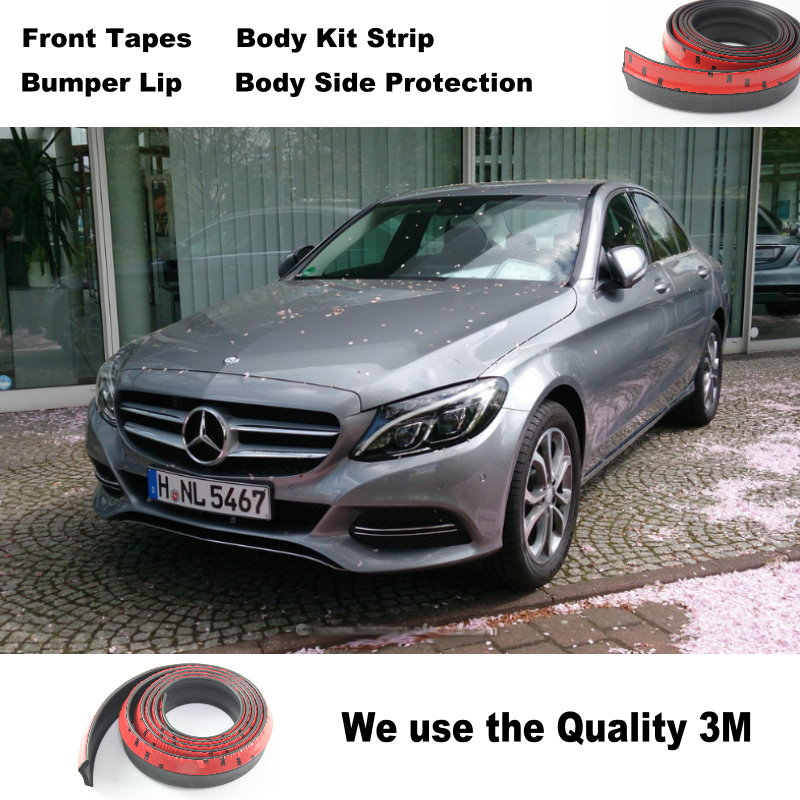 For Mercedes Benz C C63 MB W202 W203 W204 W205 Bumper Lip Deflector Lips / Front Spoiler Skirt Car Tuning View / Body Kit Strip bumper lip deflector lips for skoda octavia laura front spoiler skirt for topgear friends car tuning view body kit strip