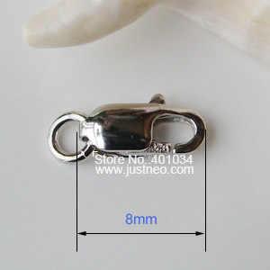 Sólido 925 prata esterlina lagosta garra fecho com 1 anel de salto aberto ródio chapeado, 1 peça