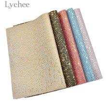 Lychee жизни 1 предмет A4 сетка в полоску искусственная кожа ткань высокое качество синтетической кожи DIY Материал с плоским дном для одежды сумки из натуральной кожи Ремни