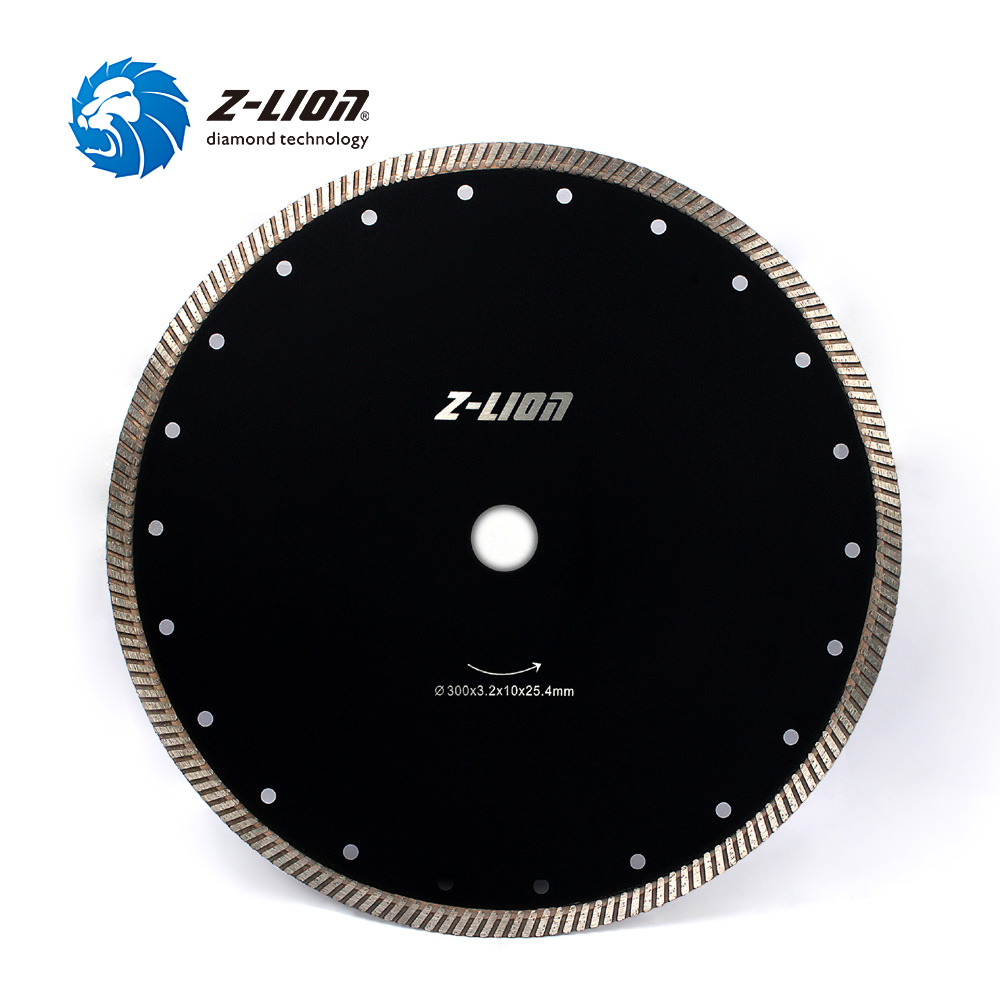 Z LION 300MM 12 Diamond Turbo Cutting Disc Diamond Saw Blade For Granite/Marble Tiles Ceramic Best Quality Diamond Cutting disk