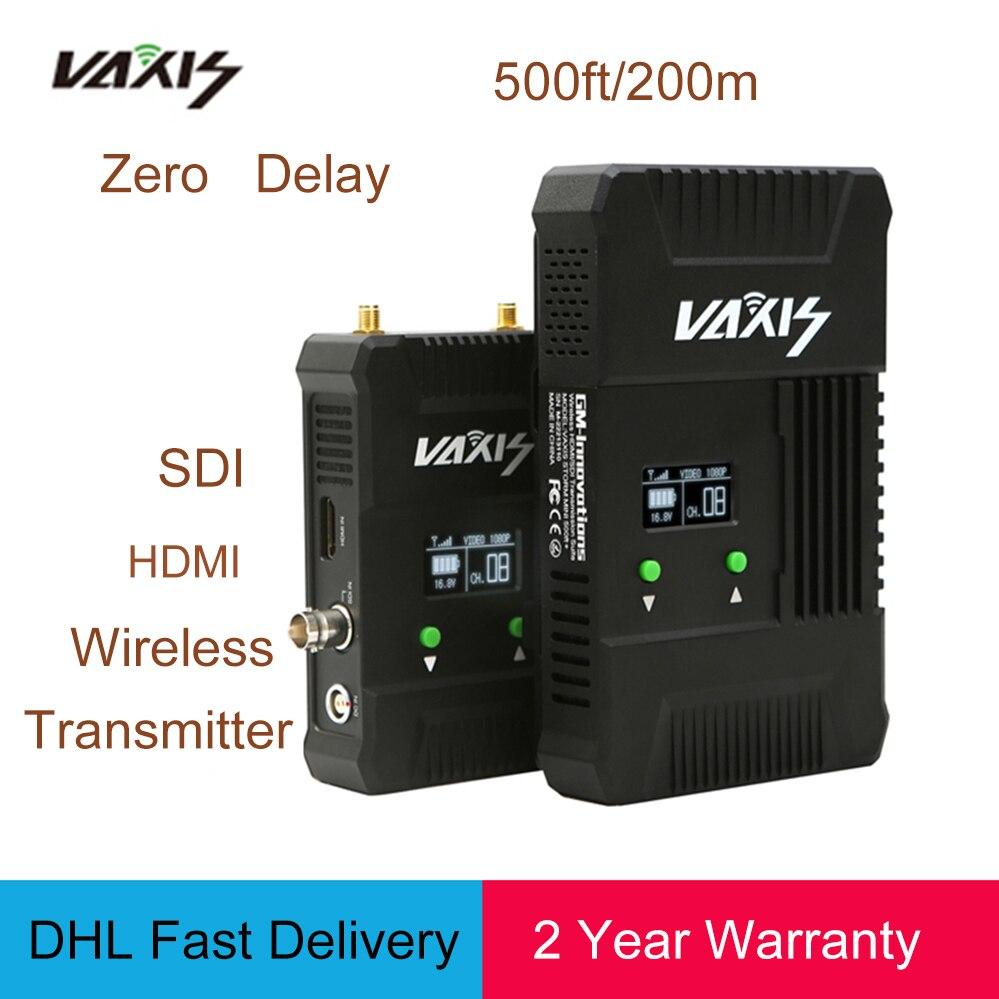VAXIS Wireless WDHI 500ft+ 200M SDI HDMI 3G 1080P transmission Broadcast system Audio/Video Camera HD transmitter&Receiver niorfnio portable 0 6w fm transmitter mp3 broadcast radio transmitter for car meeting tour guide y4409b