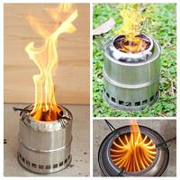 Portable Outdoor Camping Stove Oven Windproof Gas Stove Survival Furnace Stove Wood Fuel Furnace Picnic Cooking Burner Cooker