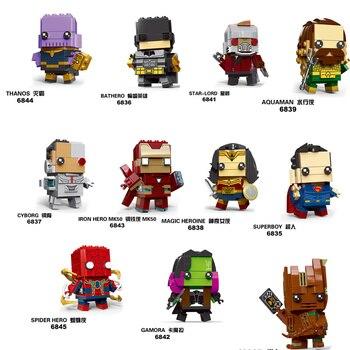 NEW brickheadz Marvel Avengers Super Heroes Batman iron Man Spiderman Building Block Bricks Toys Compatible with Legoing 21035 lego