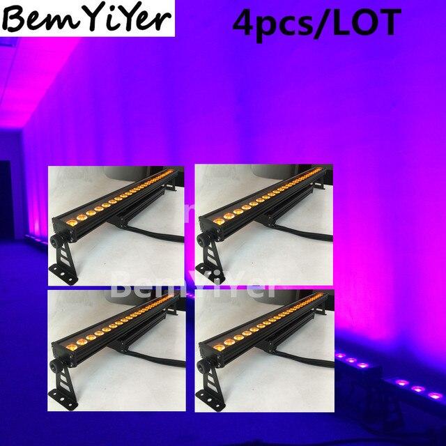 outdoor bar lights rustic style 4pcslot ip65 24x12w led wall washer outdoor bar lightingwaterproofrgbwa lightingwaterproof