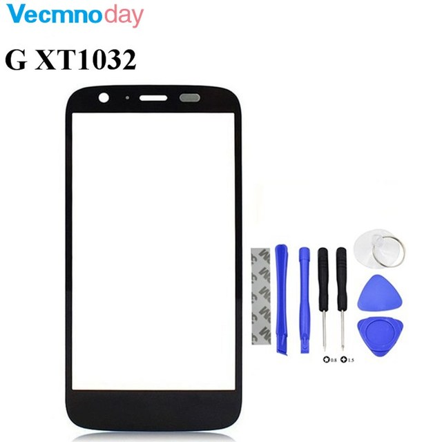 Vecmnoday Front Outer Screen Glass Lens For Motorola Moto G XT1032 XT1033 Replacement (Not LCD Not touch screen) with Tools
