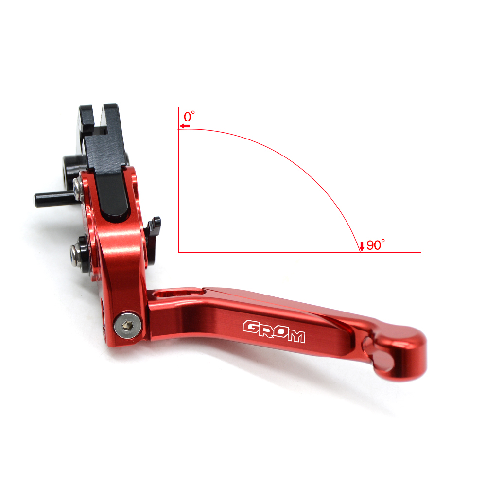CNC aluminum Folding Motorcycle Brake Clutch Levers Sports bike levers with logo For HONDA GROM 2015 2016 2014 in Levers Ropes Cables from Automobiles Motorcycles