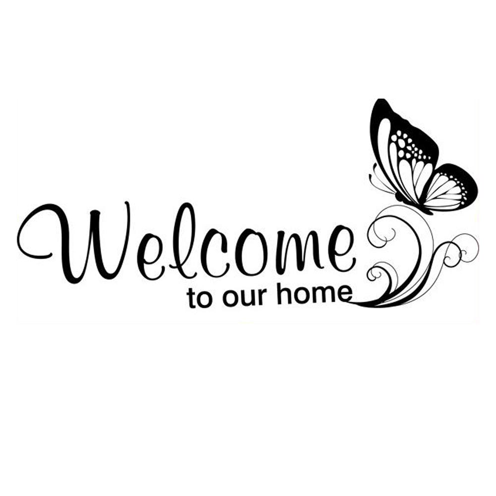 56*30cm Welcome To My Home Quotes Wall Sticker Living Rooms