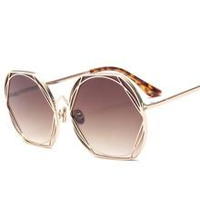 Vintage Luxury Brand Round Sunglasses Women 2019 Fashion Retro Driving Sun Glasses for Women Mirror Ladies Shades UV400 Oculos