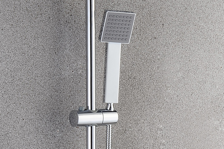 Stainless steel big rainfall shower faucet cold and hot water shower head set - 5