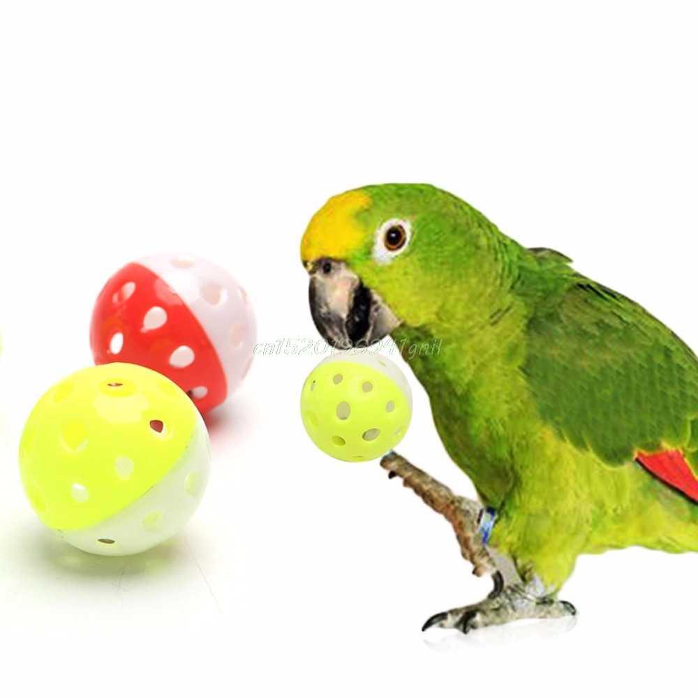 Brinquedo do papagaio do animal de estimação pássaro oco sino bola para periquito cockatiel mastigar divertido gaiola brinquedos