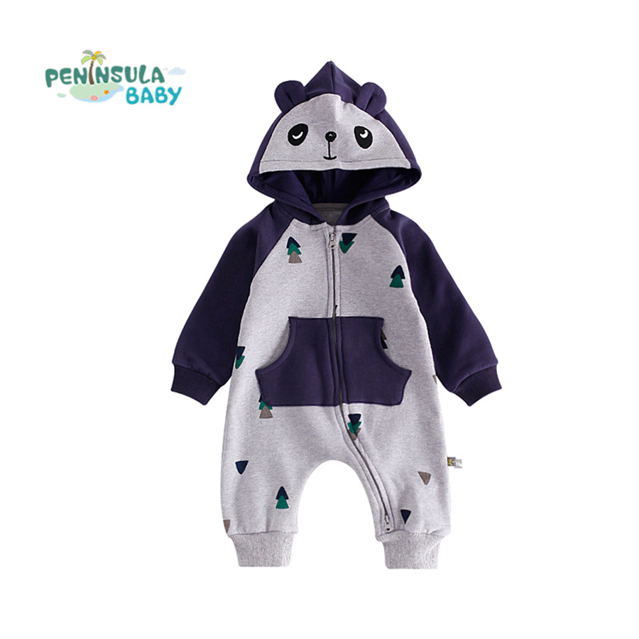 Baby Rompers Clothes Cartoon Animal Costume Winter Warm Baby Boys Girls Clothing Next Hooded Jumpsuit Overalls Roupa Infantil cotton baby rompers set newborn clothes baby clothing boys girls cartoon jumpsuits long sleeve overalls coveralls autumn winter