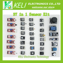 Free Shippiing  37 in 1  Sensor Kit For Arduino Starters keyes brand in stock good quality low price 37 IN 1 SENSOR KITS