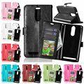 Titular do cartão de pu leather case para lenovo k5 note a7020 crazy horse pu leather case para lenovo vibe k5 note pro virar capa carteira