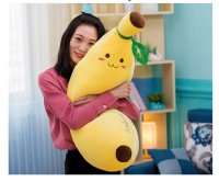 new style stuffed plush toy large 65cm yellow banana very soft throw pillow sofa cushion Christmas gift s2446